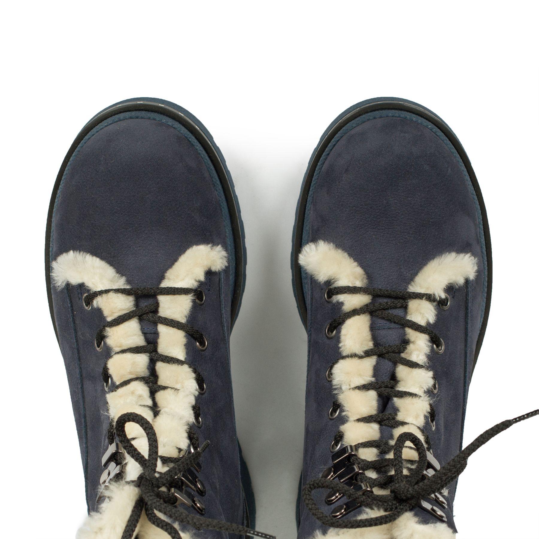 Зимові сині черевики купити в інтернет-магазині Wladna. Замовити ... 71be69cfa09fb