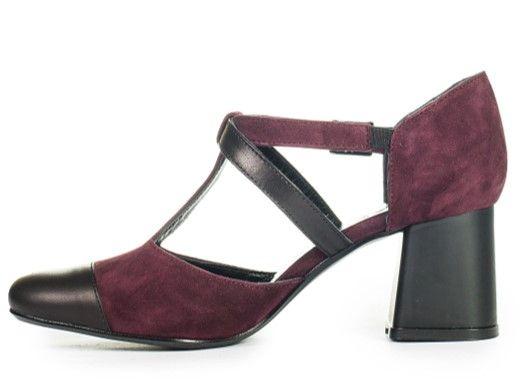 Босоніжки-туфлі бордові купити в інтернет-магазині Wladna. Замовити ... 23c2d037238f4